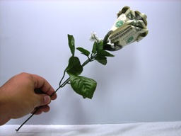 Цветок из денег своими руками пошаговое фото