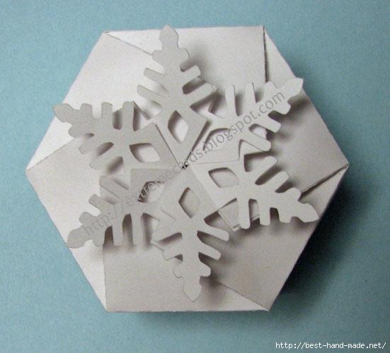 Шкатулка на новый год своими руками из бумаги